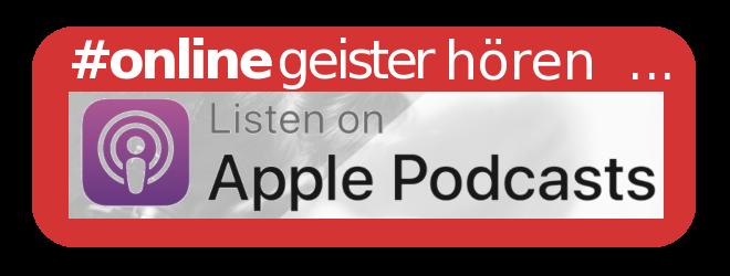 Onlinegeister hören und abonnieren über ... iTunes!